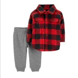 Carters 2 piece flannel and jogger set